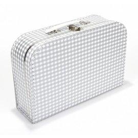 Koffertje ruitjes zilver