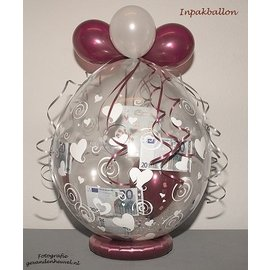 Inpakballon 25-jarig huwelijk