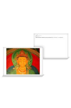 © Elke Hessel; Buddha Ratnasambhava, Wandmalerei aus dem Gyantse Kumbum, Tibet