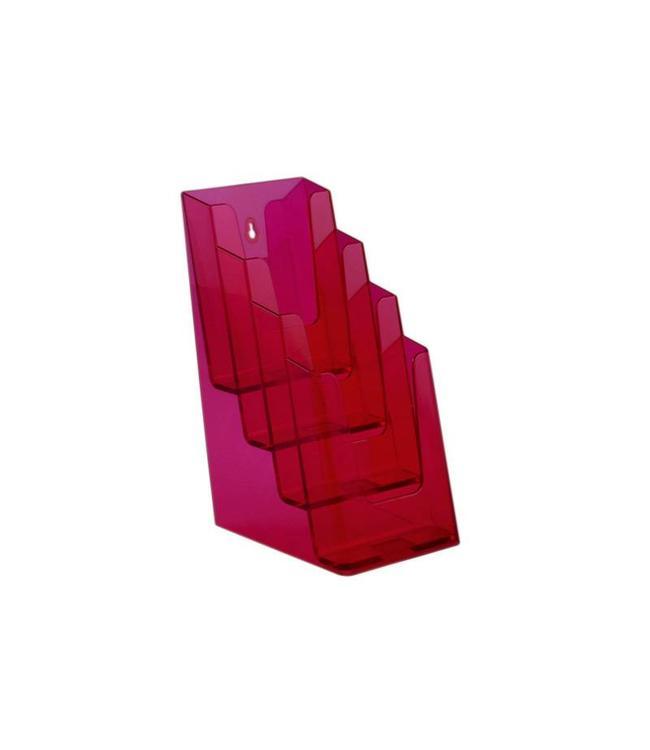 Folderhouder 4 vaks 1/3 A4 Neon