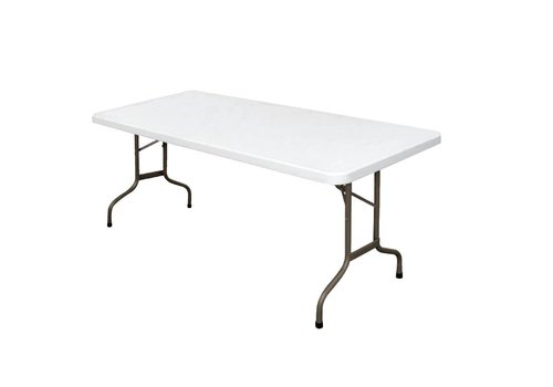 Bolero Party Table White Collapsible | 183 cm