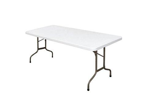 Bolero Partytafel Wit Inklapbaar | 183 cm