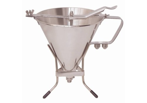 De Buyer Stainless Steel Automatic Piston Funnel with Stand 1.5Ltr