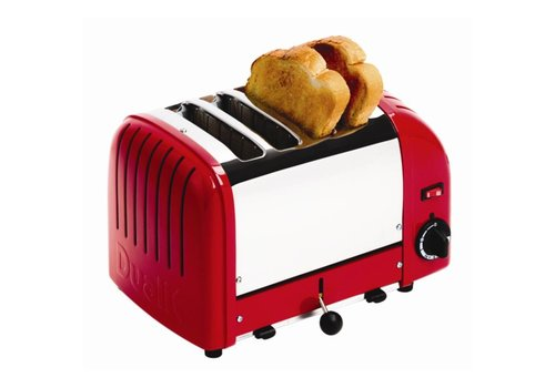 Dualit Toaster red stainless steel | 4 cuts