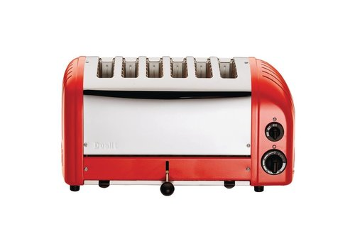 Dualit Dualit Vario toaster red 6 cuts