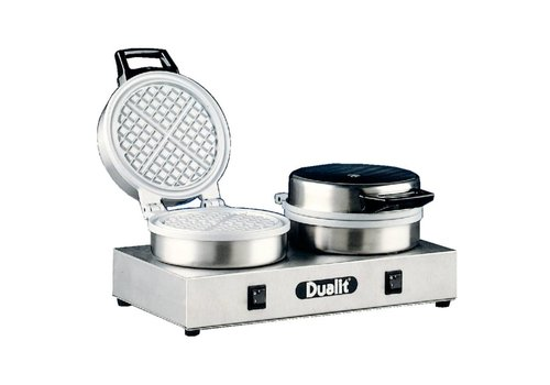 Dualit Professionele Dubbele Wafelijzer (ronde wafels)