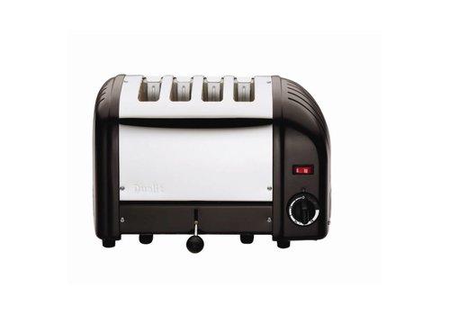 Dualit Toaster Edelstahl schwarz 4 Schnitte
