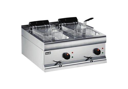 Lincat Silver 600 Dual-Friteuse mit Ablass - 2 x 9 Liter