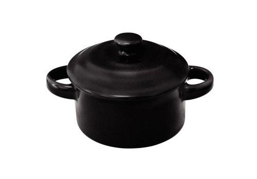 Olympia Mini Rund schwarz Porzellan Pan (4 Stück)
