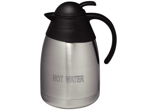 Olympia RVS isoleerkan, 'HOT WATER', 1,5ltr