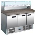 Polar Pizza Werkbank mit Marmorplatte | 3 door