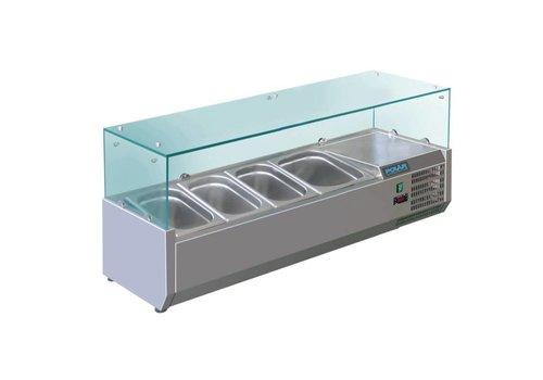 Polar Set-up refrigerator vitrine   3 x GN 1/3 + 1 x GN 1/2