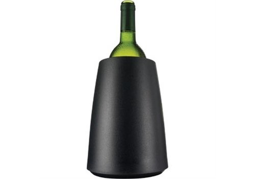 HorecaTraders Wine Cooler with Cooling Insert Black