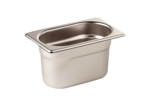 Vogue Stainless steel GN container 1/9   3 formats