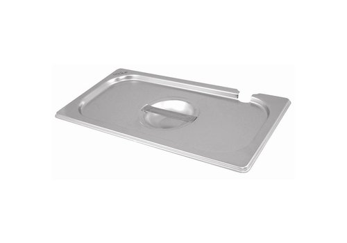 Vogue Stainless steel lids GN with spoon cutout GN 1/6