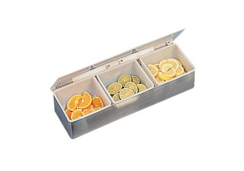 HorecaTraders Stainless Bardispenser   3 herausnehmbaren Tabletts