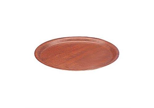 HorecaTraders Tray Mahogany Round Ø 30 cm