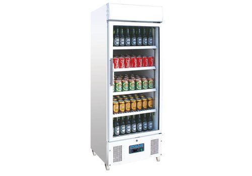Polar Kühlvitrine - Getränkekühler Tür mit 338 Litern