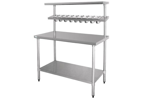 Vogue Stainless Workbench & Wandregal | 180 x 150 x 60 cm