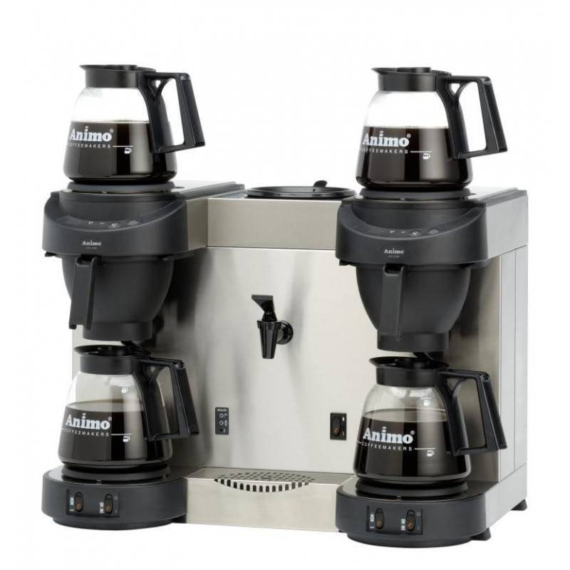 Double Coffee Maker Home : Double Coffee Maker with Heetwaterdispencer - HorecaTraders Buy online commercial catering ...