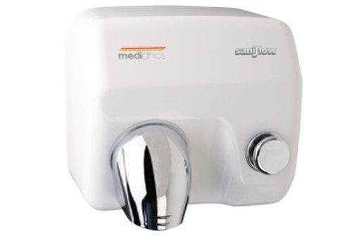 Mediclinics Handendroger met drukknop wit Saniflow E05 - 2250W