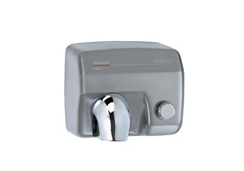 Mediclinics Hand dryer stainless steel mat with button Saniflow E05CS-2250W