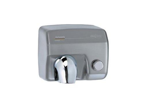 Mediclinics Handdroger RVS mat met knop Saniflow E05CS -2250W