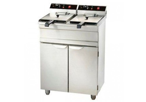 Combisteel Professionelle Fritteuse | Stehend Model - 2 x 9 Liter