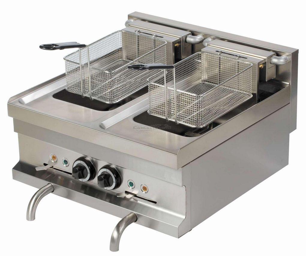 pro elektrische friteuse 2 x 8 liter schnell und einfach online gastronomiebedarf kaufen. Black Bedroom Furniture Sets. Home Design Ideas