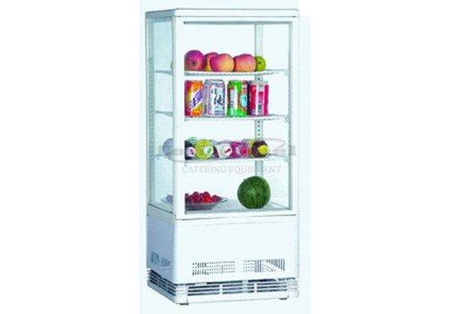 Combisteel Glass display fridge white 78 Liter - 3 Schedules