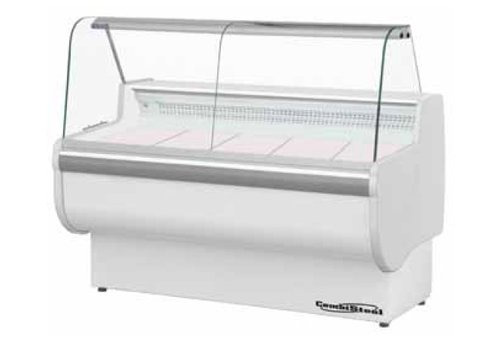Combisteel Refrigerated display case showing - 122 (h) x205x81cm