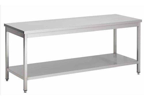 HorecaTraders Edelstahl-Arbeitstisch abgebaut | 100 x 85 x 60 cm