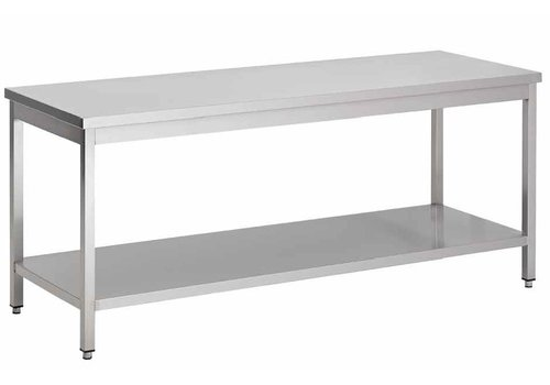 Combisteel Edelstahl-Arbeitstisch mit Sockel | 8 Formate