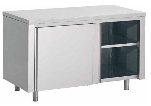 Combisteel Edelstahl-Arbeitstisch mit Zwischenboden | 140x70x (H) 85cm