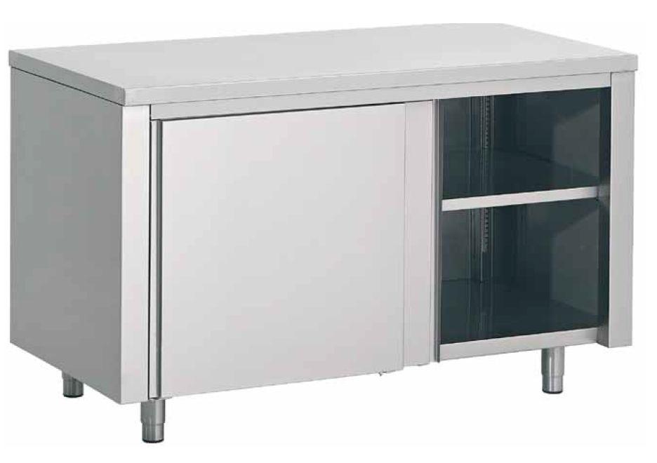 schrank mit zwischenboden 160x70x85 cm schnell und. Black Bedroom Furniture Sets. Home Design Ideas