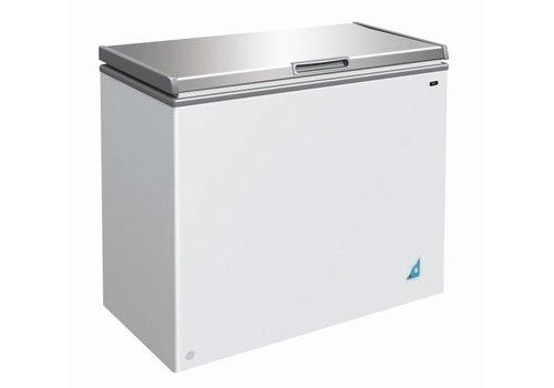 Combisteel Freezer with stainless steel lid - 201 liters