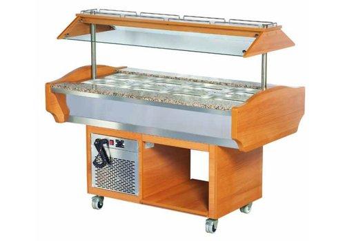 Combisteel Catering Salad Bar - 151x90x87 / 132 cm