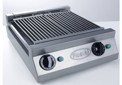 Rosval Wasserbad Grill -Vapogrill - Aqua Grill zwei Elemente - 3 kW-230V
