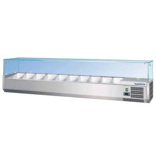 Set-up refrigerator cabinets