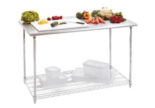 Bartscher Werktafel met RVS werkblad   120 x 90 x 60cm