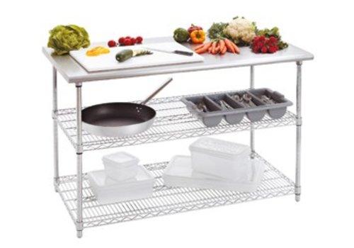 Bartscher Werktafel met RVS werkblad   130 x 70 x 90 cm