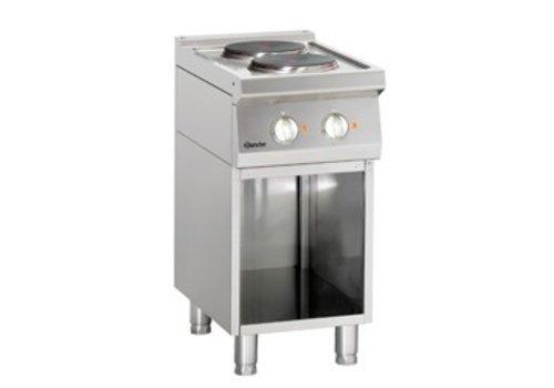 Bartscher Elektrische kookplaat met open onderbouw | 2 elementen