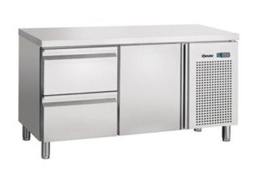 Bartscher Cooling Stainless Steel Stainless Steel 1 door 2 drawers | 134 x 70 x 85 cm
