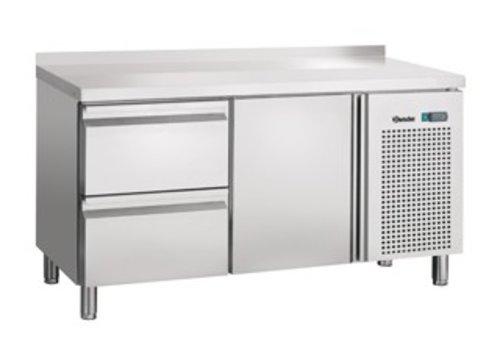 Bartscher Cool Workbench with stainless steel backsplash | 134 x 70 x 85 cm