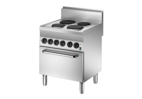 Bartscher Electric stove with electric oven | 4 elements