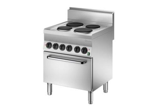 Bartscher Elektrisch fornuis met elektrische oven | 4 elementen