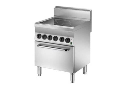 Bartscher Ceramic hob with electric oven   4 cooking zones