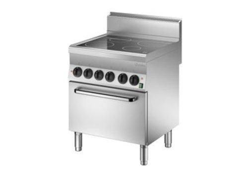 Bartscher Ceran-Kochfeld mit Elektro-Backofen | 4 Kochzonen