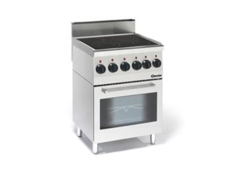 Bartscher Ceramic stove with oven | 4 cooking zones