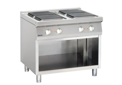 Bartscher electric stove with open base | 4 elements